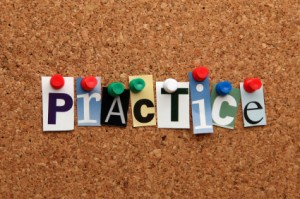 Practice pinned on noticeboard